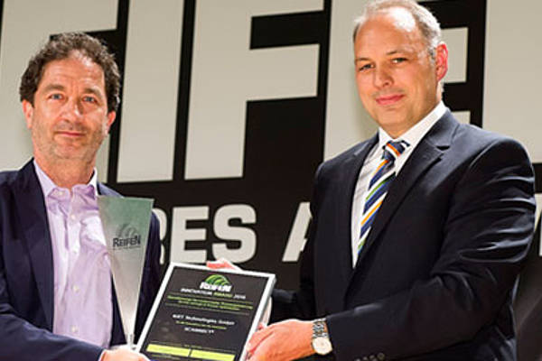 4JET's QR code marking is awarded with the REIFEN Innovation Award 2016